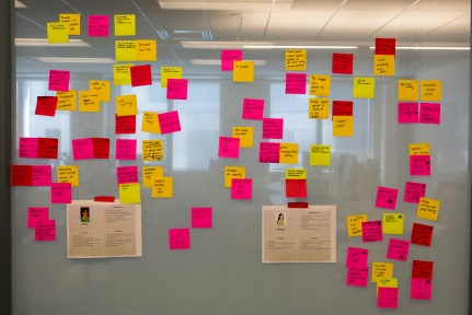 Behold all of the ideas! Glorious post-it notes.